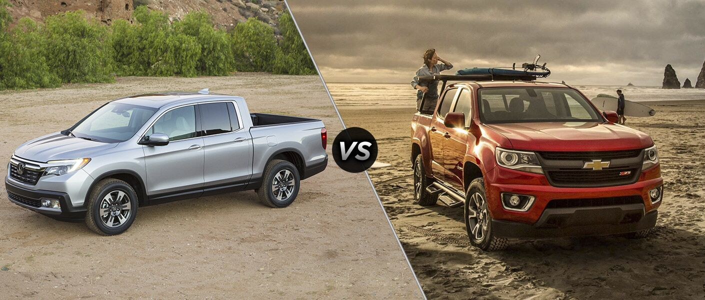 2017 Honda Ridgeline vs 2016 Chevy Colorado