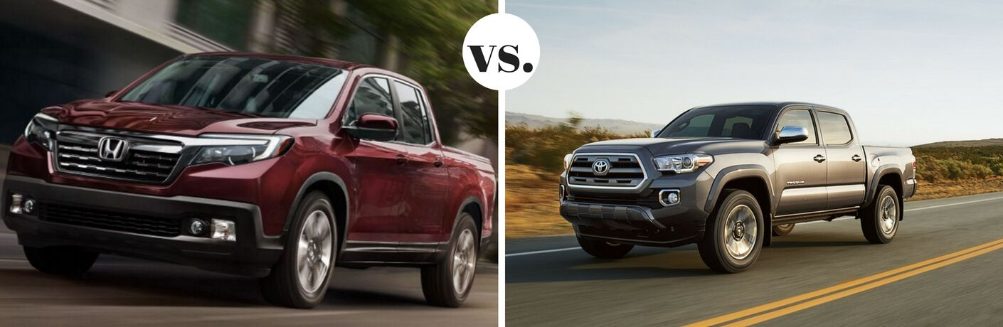 2017 Honda Ridgeline vs. 2017 Toyota Tacoma