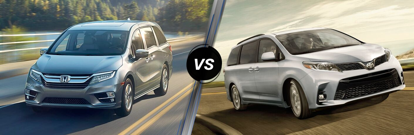 2018 honda odyssey and 2018 toyota sienna side by side