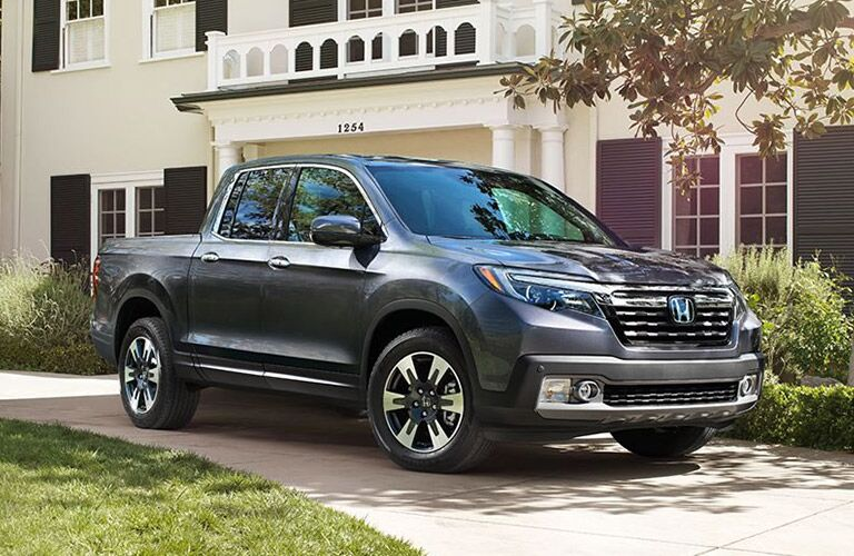 2018 honda ridgeline full view parked in front of house