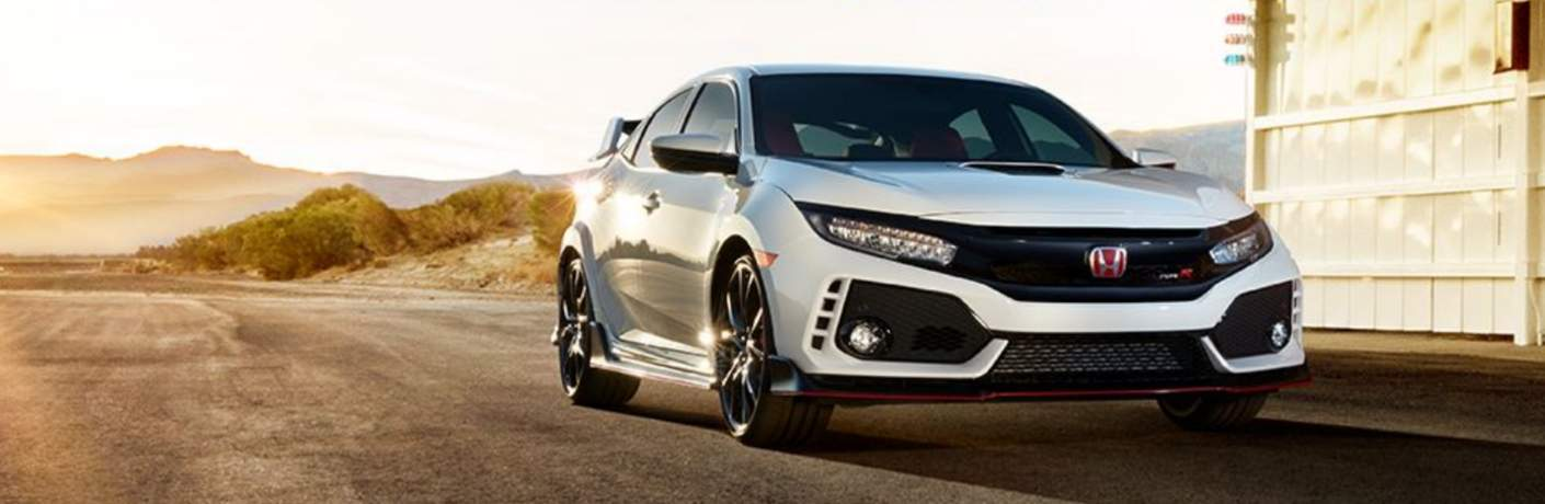 2018 honda civic type r white orchard forward facing