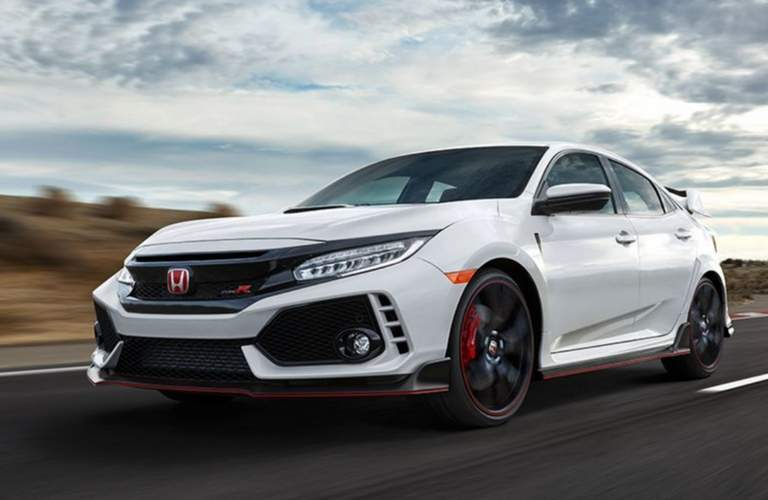 2018 honda civic type r white orchard track driving
