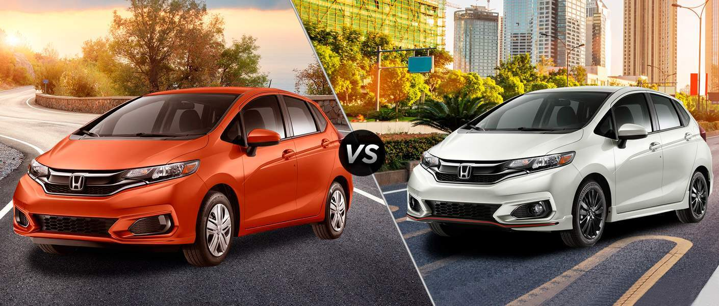 2018 honda fit lx vs 2018 honda fit sport. Black Bedroom Furniture Sets. Home Design Ideas