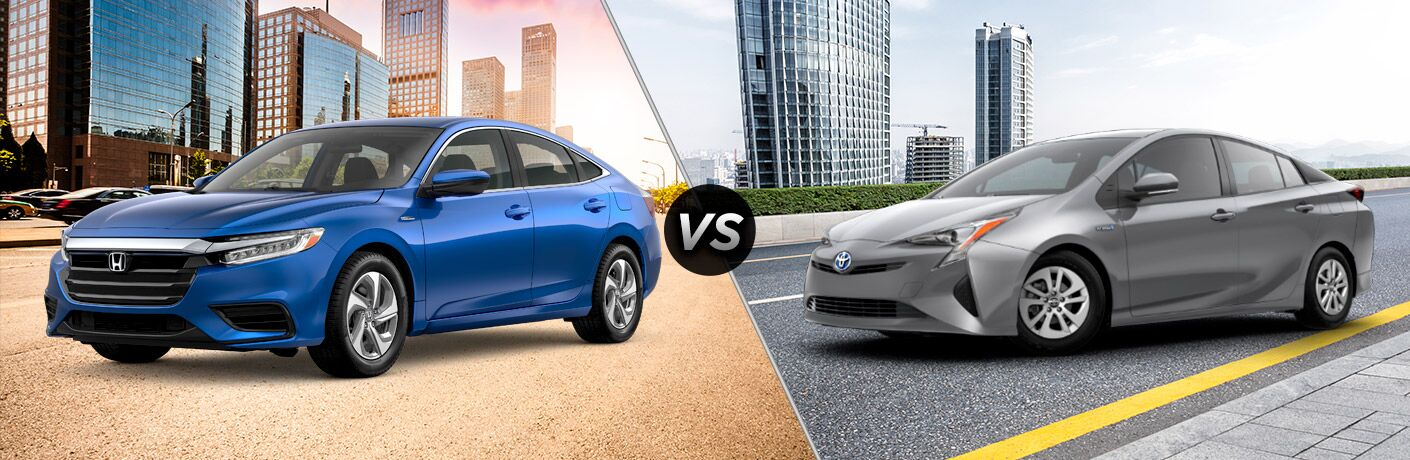 Nice 2019 Honda Insight And 2019 Toyota Prius Side By Side