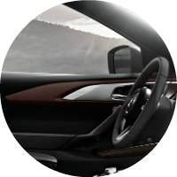 2018 Mazda CX-9 steering wheel and side mirror