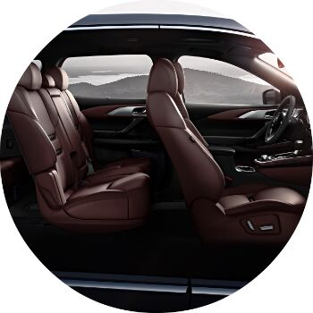 how much space is in the new cx-9 interior?