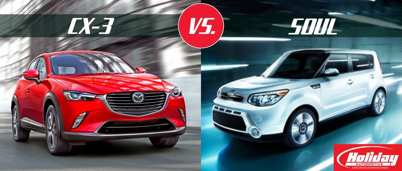 2017 Mazda CX-3 vs 2016 Kia Soul