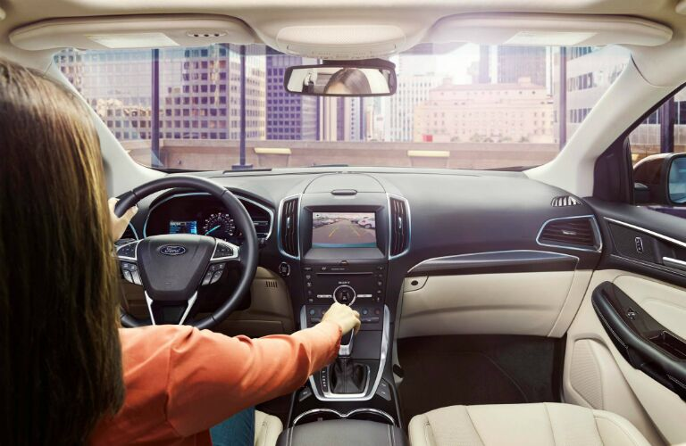 2017 ford edge with touchscreen display