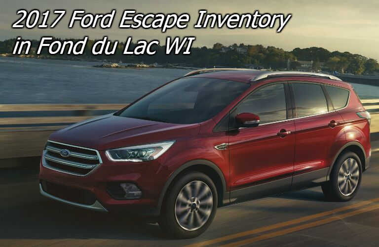 2017 ford escape inventory in fond du lac
