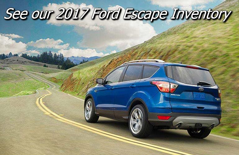 new 2017 ford escape inventory in fond du lac wi