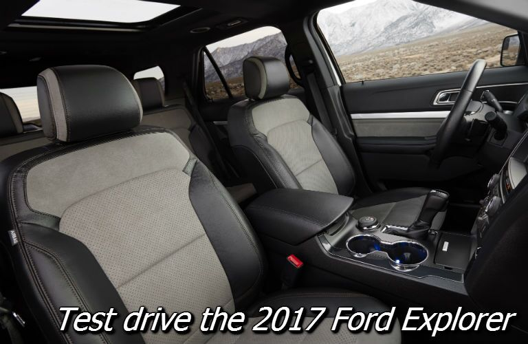take the 2017 ford explorer for a test drive in fond du lac county