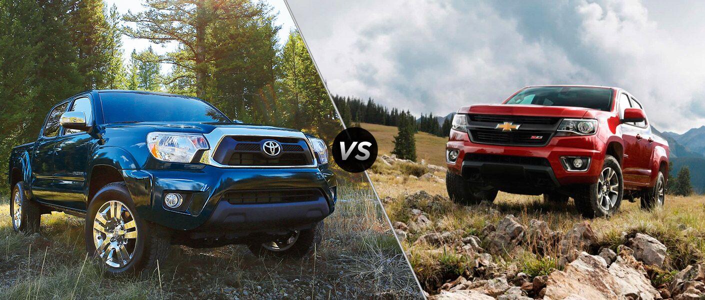 Toyota tacoma vs 2015 chevy colorado