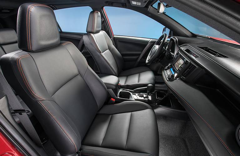 Black Luxury 2016 Toyota RAV4 Interior Seating