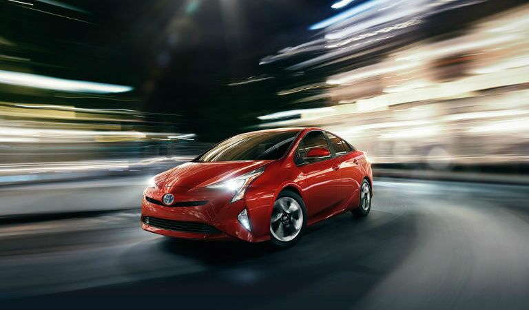 Red 2016 Toyota Prius Near Springfield MA at Gale Toyota