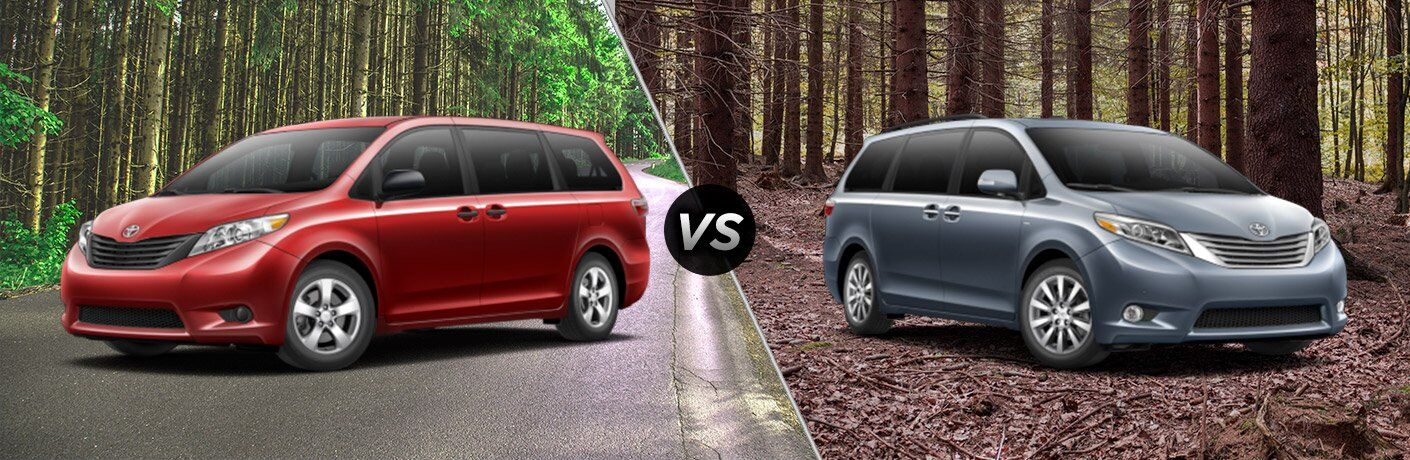 2017 toyota sienna l vs 2017 toyota sienna limited. Black Bedroom Furniture Sets. Home Design Ideas