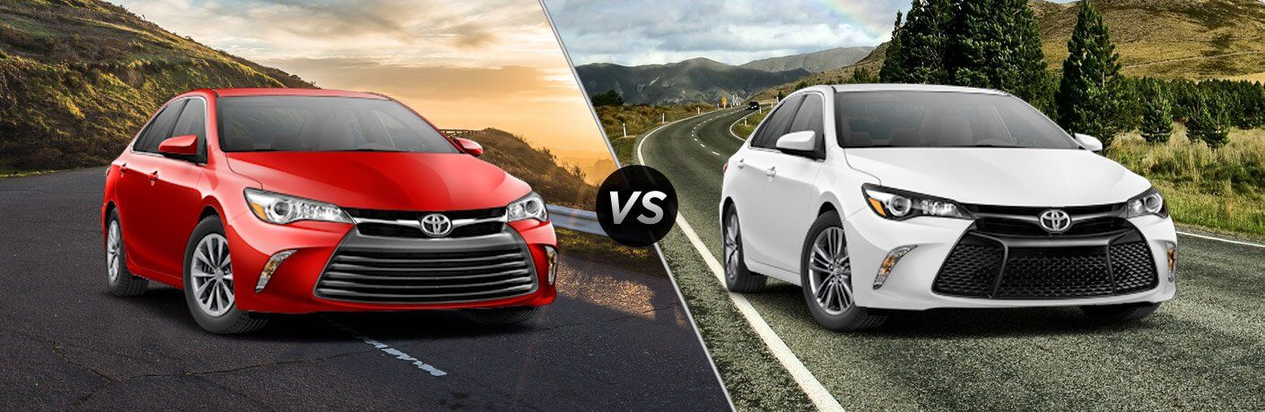 2017 toyota camry le vs 2017 toyota camry se. Black Bedroom Furniture Sets. Home Design Ideas