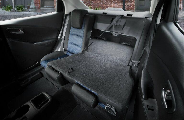 2017 toyota yaris ia rear seats cargo space