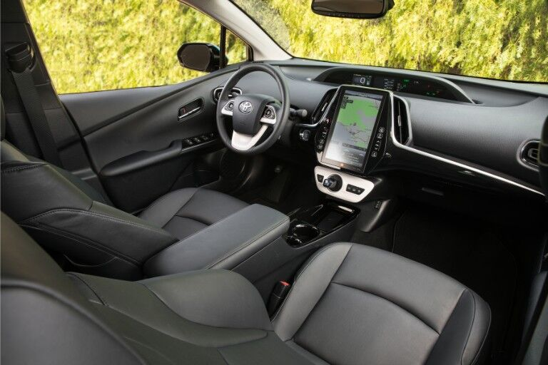 2018 Toyota Prius Prime Interior Cabin Front Seats and Dashboard