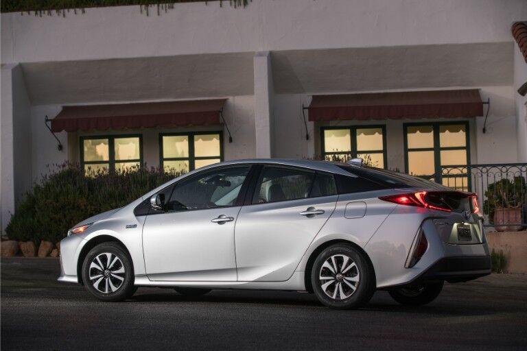 2018 Toyota Prius Prime Exterior Driver Side Rear Profile
