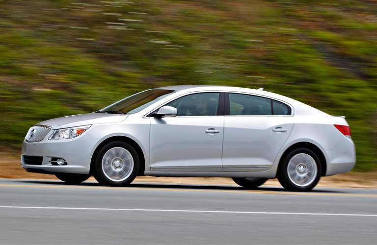 Silver used Buick LaCrosse driving