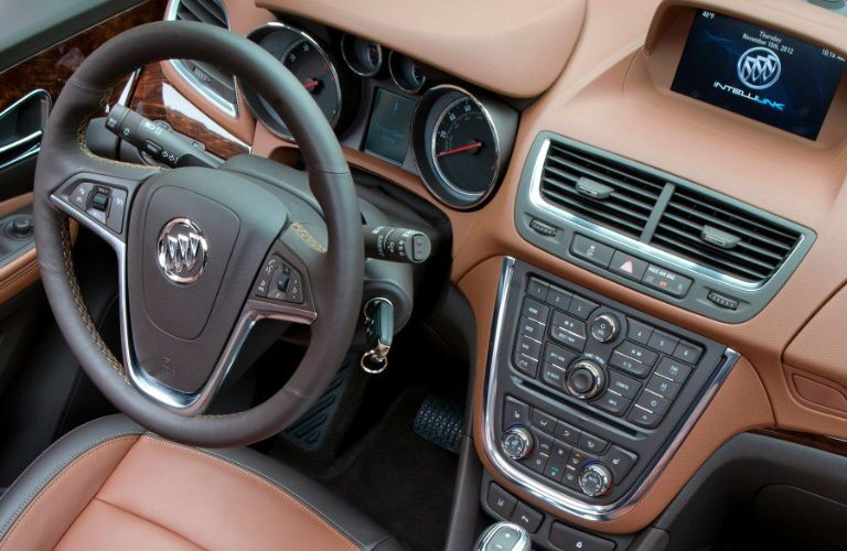 Used Buick Encore steering wheel and dashboard design