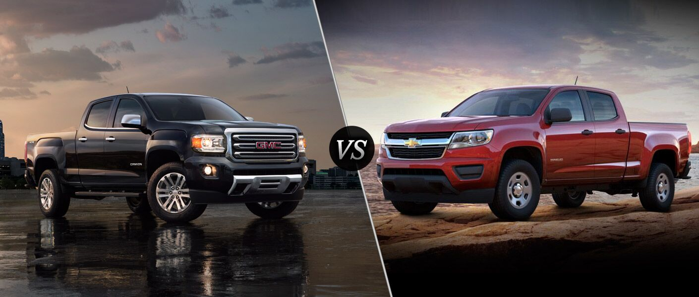 2016 gmc canyon vs 2016 chevy colorado. Black Bedroom Furniture Sets. Home Design Ideas