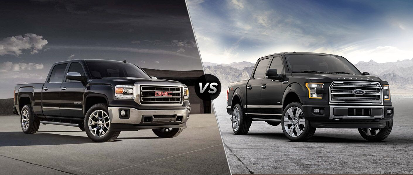 2016 gmc sierra 1500 vs 2016 ford f 150. Black Bedroom Furniture Sets. Home Design Ideas