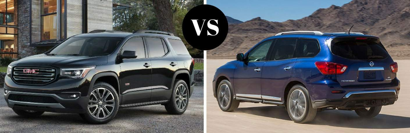 2017 GMC Acadia vs 2017 Nissan Pathfinder