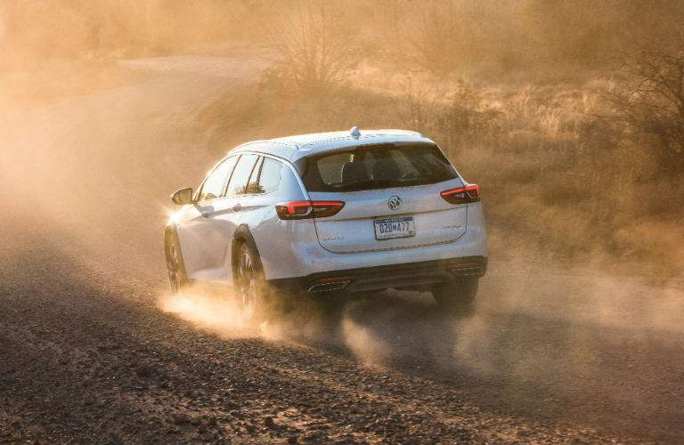 2018 Buick Regal TourX driving on a dirt road