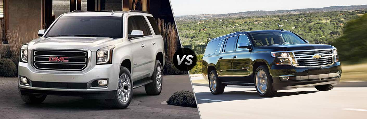 2018 gmc yukon vs 2018 chevrolet suburban. Black Bedroom Furniture Sets. Home Design Ideas