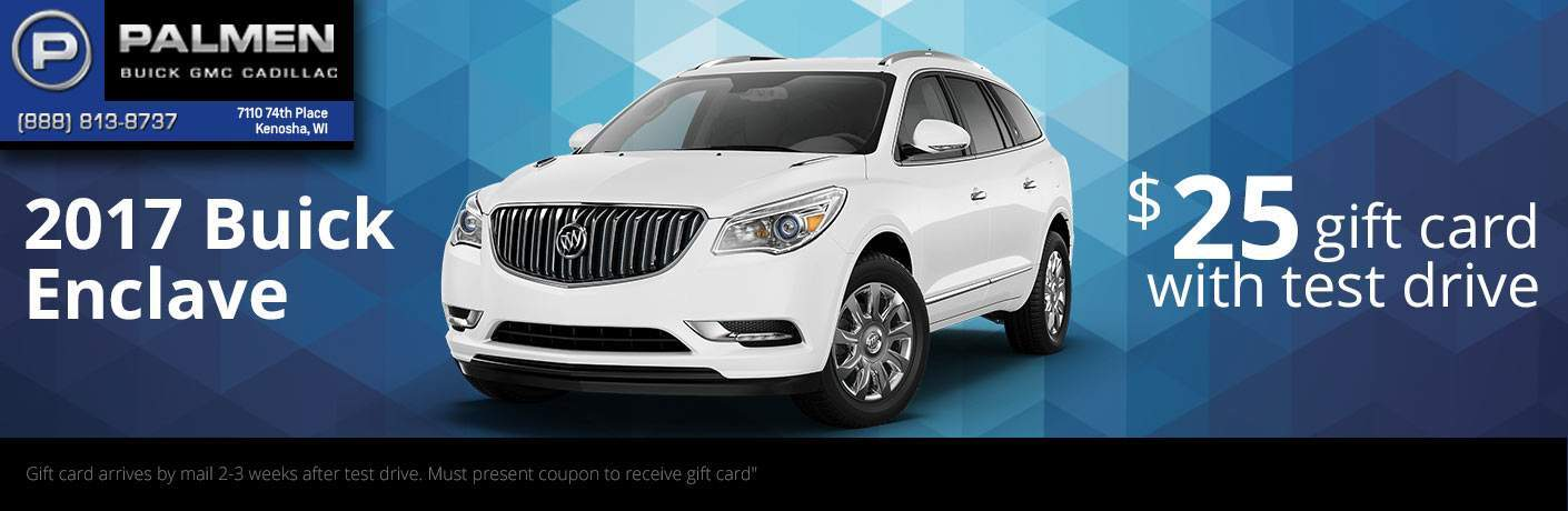 Test drive a Buick Enclave and get a gift card!
