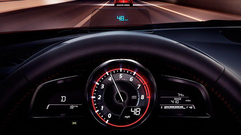 2016 Mazda3 interior driver console