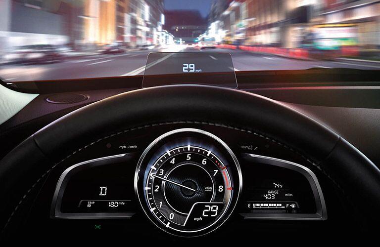 2017 Mazda CX-3 front interior instrument cluster