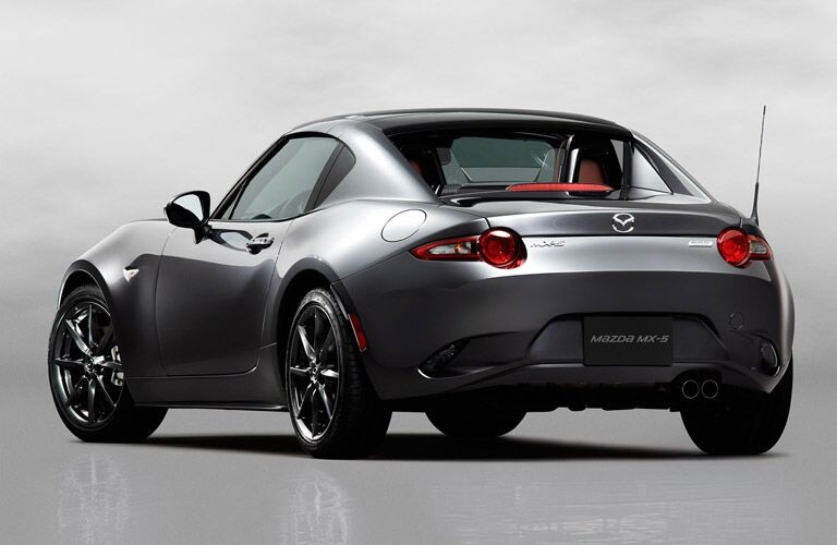 gray 2017 Mazda MX-5 Miata RF rear view