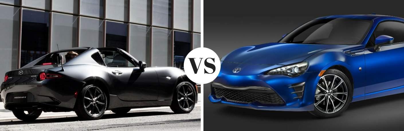 2017 Mazda MX-5 Miata RF vs 2017 Toyota 86