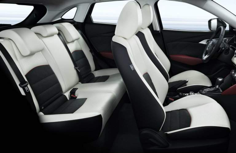 Mazda CX-3 white seating interior