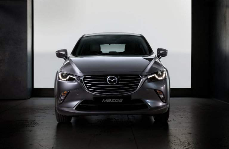 Gray 2018 Mazda CX-3 parked in garage