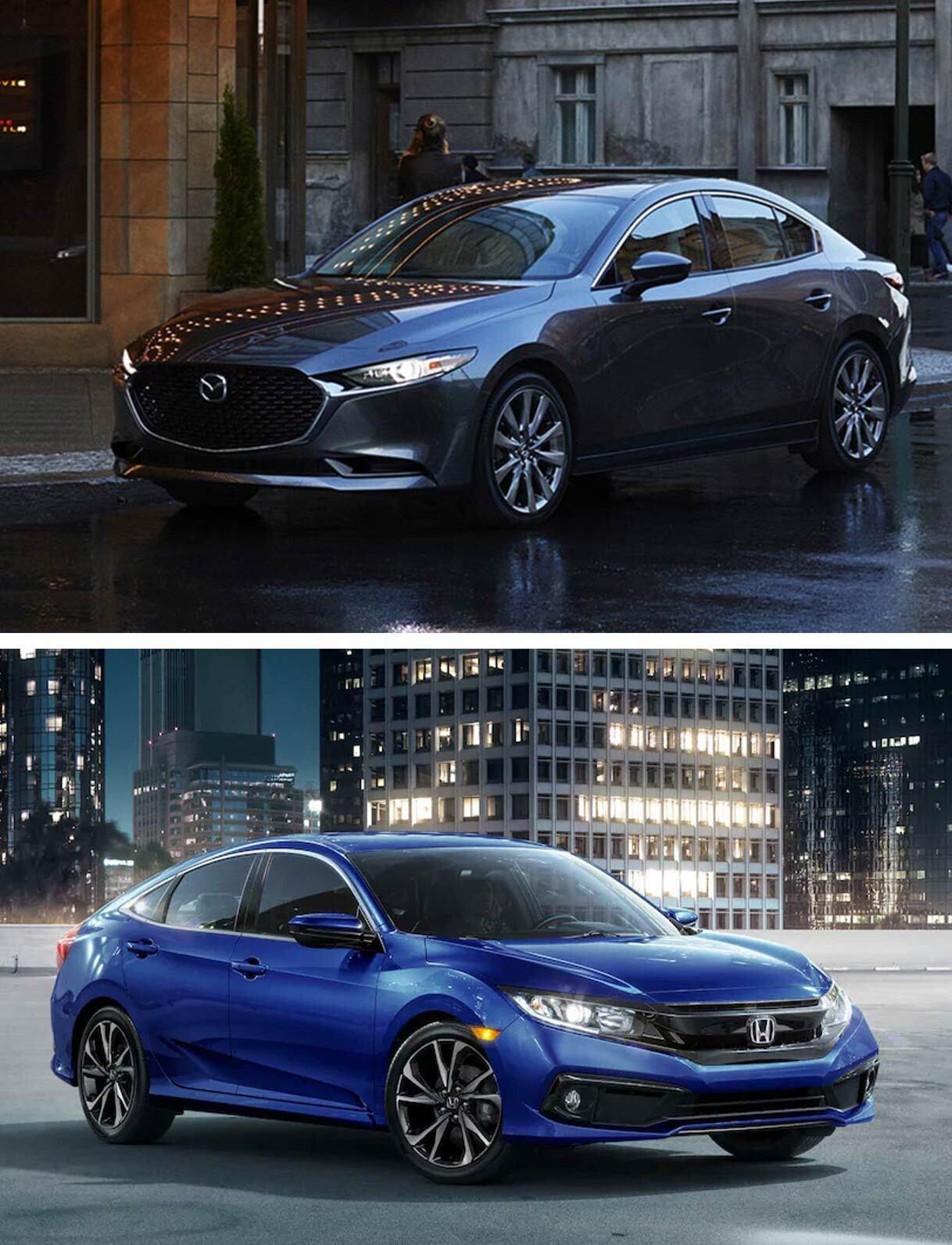 2019 Mazda 3 vs. 2019 Honda Civic