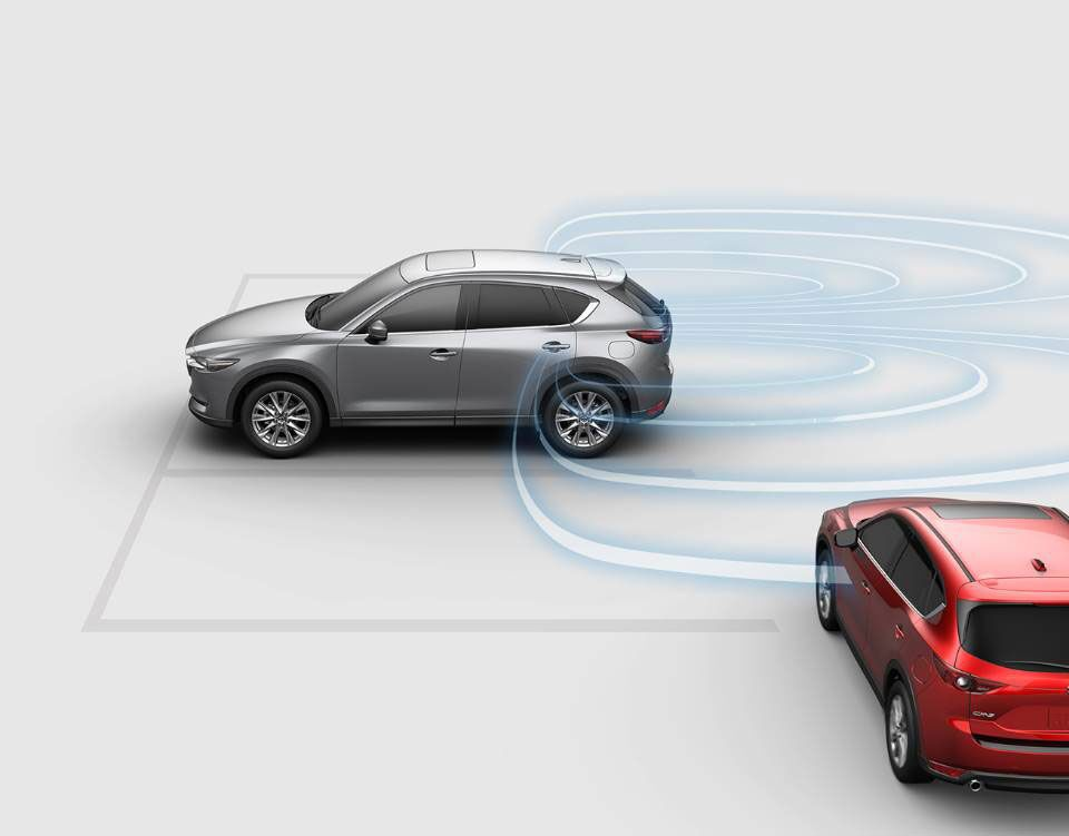 Illustration 2019 Mazda CX-5 i-ACTIVESENSE systems in action