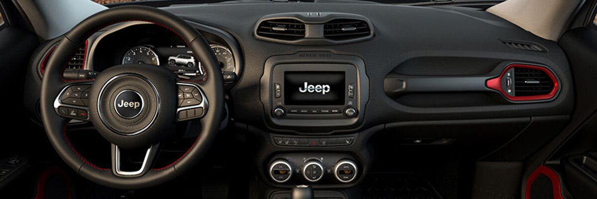 Jeep Renegade interior available at Kendall Jeep