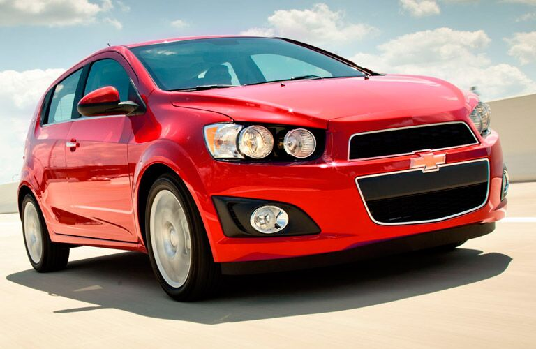 2015 chevy sonic front exterior