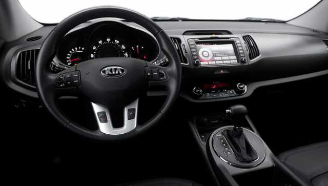 Interior of 2016 Kia Sportage