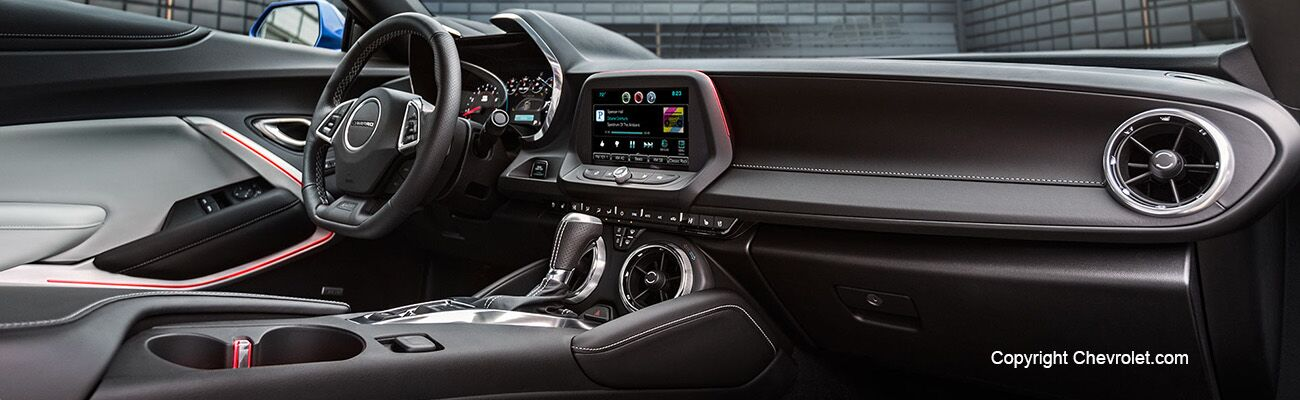 2017 Chevy Camaro interior available at Miami Lakes Automall