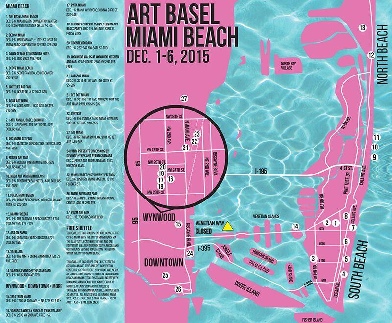 Art Basel 2015 Map