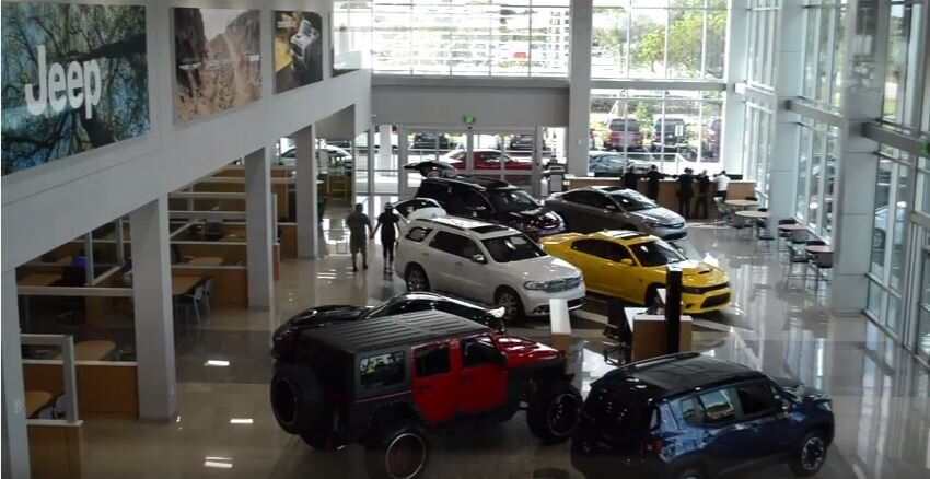 New Miami Lakes Automall Chrysler Jeep Dodge Ram building