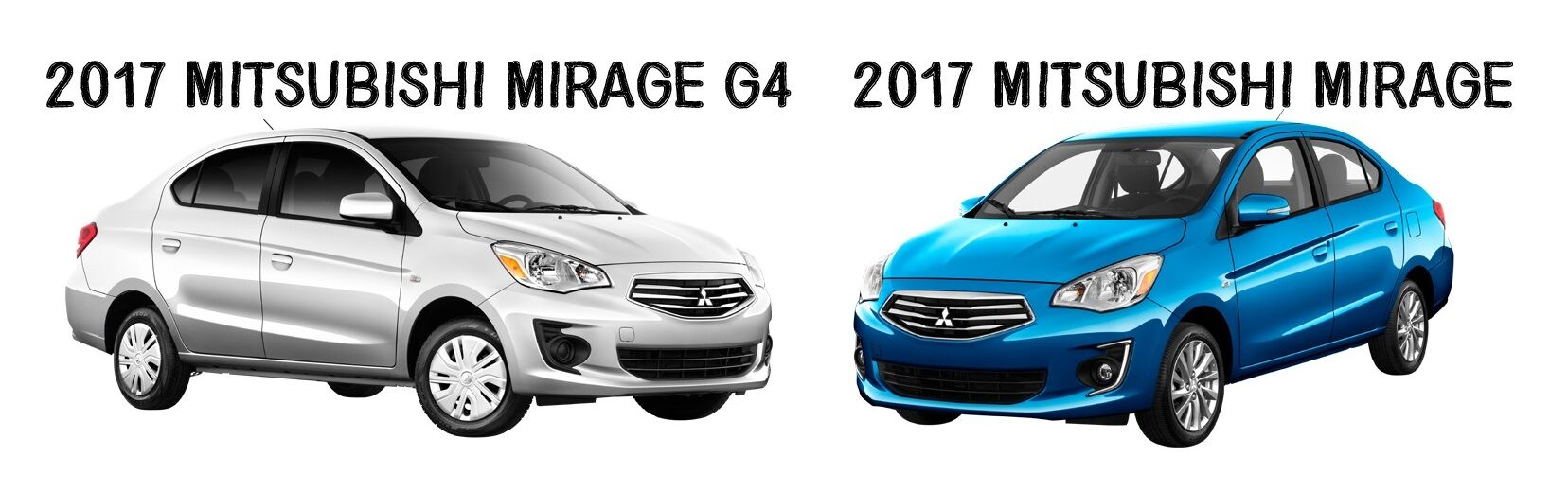 2017 Mitsubishi Mirage and Mirage G4