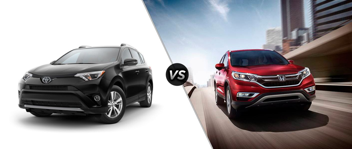 How does the 2016 Toyota RAV4 compare to the 2016 Honda CR-V?