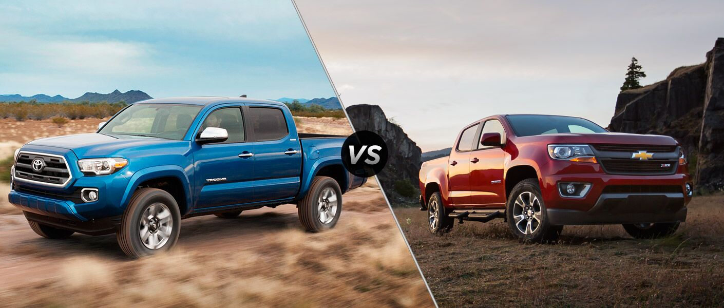 Compare the 2016 Toyota Tacoma vs 2015 Chevy Colorado at Toyota Palo Alto.