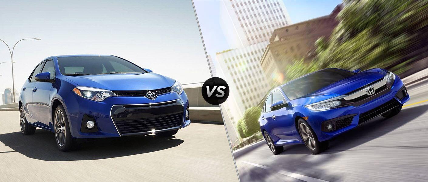 2016 Toyota Corolla vs 2016 Honda Civic model comparison Toyota Palo Alto San Jose CA