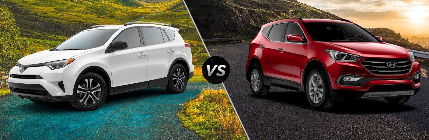 2017 Toyota RAV4 vs 2017 Hyundai Santa Fe Sport